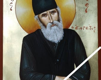 Elder Saint Paisios of Mount Athos, christian orthodox icon, original hagiography, hand painted on request, γέροντας Παΐσιος, Старец Паисий