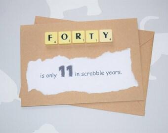 Funny 40th card, 40th birthday card, 40th birthday, 40 birthday, Funny birthday card, 40 birthday card, Birthday card, card for 40th, 40th