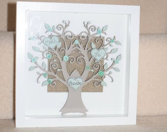 Family Tree Frame, Personalised Frame, Family Tree Gift, Photo Frame, Families, Personalised Gift, Family Tree, Wall Decal, Tree, Shabby