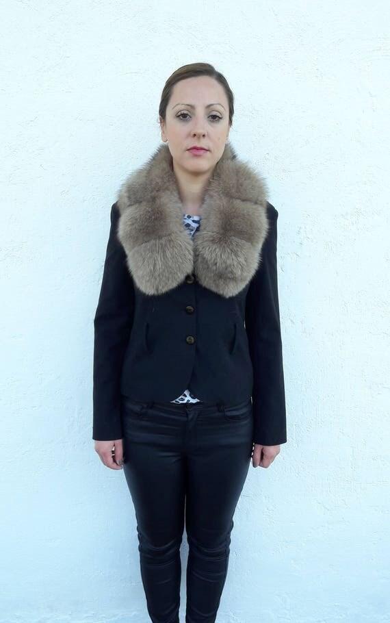 BROWN fOX fUR Collar Scarf FULL SKIN double way to wear