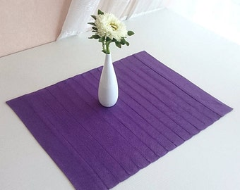 Purple Placemat, Small Table Runner, Helloween, Dark Purple Cloth, Linen Table  Cloth
