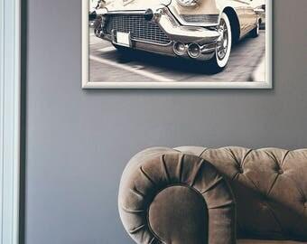 Cadillac, 1957 DeVille, vintage car print, car print, classic car print, retro car print, car poster, vintage car photo, car wall art, cars