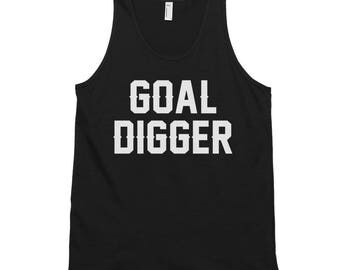 Goal Digger - Classic Tank Top - Unisex, Motivational, Fitness, Workout, Gym Wear, Athletic, Inspiration