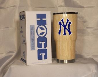 New York Yankees YETI or HOGG Tumbler cup Bat wood grain
