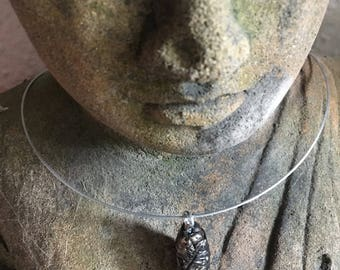 Amulet [call of Hekate] / Amethyst / gems / leaf / wood / Moss / witch / Wiccan / spiritual