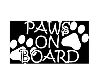 Paws On Board Car Decal, Pet Lover Sticker