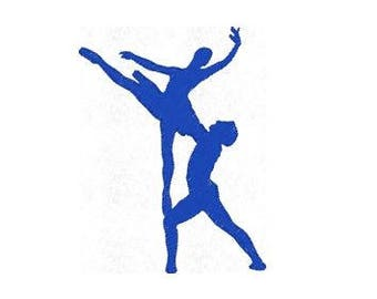 Ballet Ballerina Embroidery Design, Dance Embroidery Design, 4x4 Hoop MULTIPLE FORMATS Download