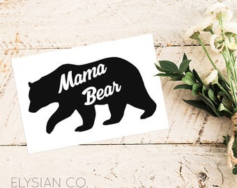 Mama Bear, Vinyl Decal, Yeti Decal, Laptop Decal, Macbook Decal, Car Decal, iPad Decal