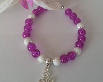 White Fuchsia bracelet