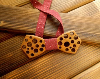 Wood bow tie Holiday bow tie Xmas men gift Wedding Bow Tie Wood anniversary gift Brother gift Boyfriend gift Groomsmen bowtie Wooden bowtie