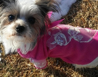 Dog clothes Dog clothing Dog sweater Dog shirt, Clothes for dogs, Warm and cozy hot pink dog jacket, Pet clothing, Pet tops, Valentine's day