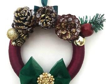 Unique Vintage Door Wreath Handmade Chic Festive Home Christmas Decor