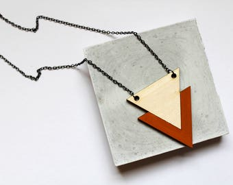 Lillian | Triangle Necklace