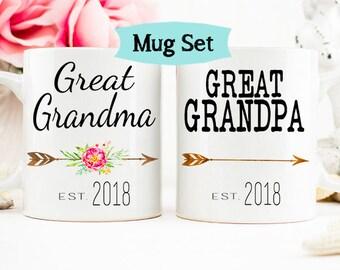 Great Grandparent Mug Set, Mug Set Great Grandparents, Great Grandma Mug, Mug for Great Grandma, Great Grandma Grandpa Mug Set, Mug Set