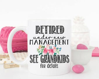 Retired Mug, Retirement mug, Grandma, Retirement Gift Ideas, Retirement gift for grandma, Full Time Grandma, Retirement Gifts for Women,
