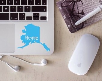Alaska Decal, State Decal, Alaska Car Decal, Alaska Home Decal, State Car Decal, Laptop Decal, Tumbler Decal, Water Bottle Decal