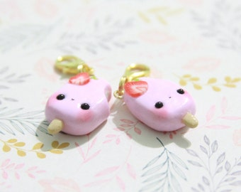 REDUCED PRICE Kawaii Pink Strawberry Popsicle Charm