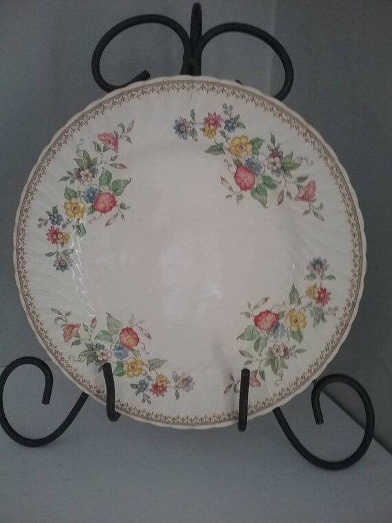 Burleigh Ware China Plate, Burgess and Leigh Dinner Plate, Floral Burleigh Ware Plate, Burleigh Ware Replacement Plate, Burgess & Leigh