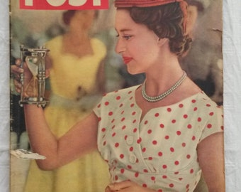 1950s Magazines, Vintage Fashion Magazine, News, Picture Post, 1955 Publications