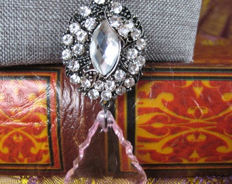The Rose Duchess hematite chain necklace and earring set