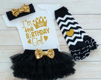 3rd Birthday Outfit, Third Birthday Outfit Girl, 3rd Birthday Girl Shirt, Birthday Gift, Third Birthday Girl, 3rd Birthday Girl Bodysuit