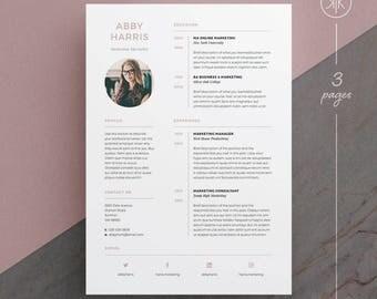 Tamara resumecv template word photoshop indesign abby resumecv template word photoshop indesign professional resume design yelopaper Image collections