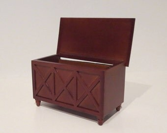 Miniature Dollhouse Chest / Trunk 1:12 Scale
