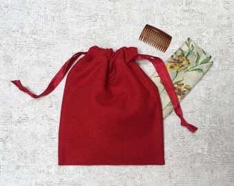 smallbags woolen red - red lining
