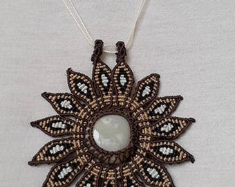 AGATE NECKLACE macrame