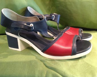 Retro Camper Brand Red/White/Blue Open Sandal US 9