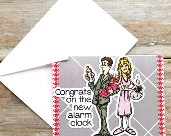 New Baby Card Funny - Funny Congratulations Card - New Baby Card - Congratulations Baby - Funny Handmade Card - New Baby Greeting Card