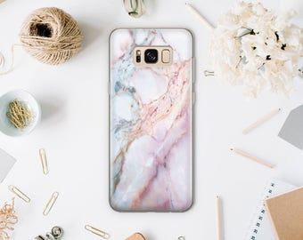 Pink Marble Case For Samsung S7 Edge Case Samsung Galaxy S7 Case Samsung Galaxy S8 Case Samsung Galaxy S8 Plus Case Phone Case Note 7 SA099