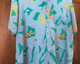 Hawaiian Shirt Party Tropical Shirt Vintage Men's XL