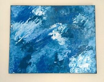 Crashing waves 16x20 canvas