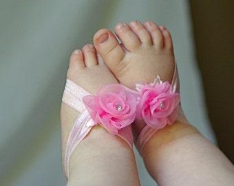 Flower Girl barefoot sandals