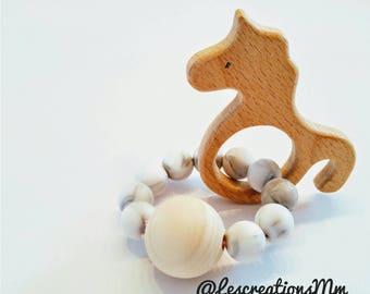 Wood/Unicorn rattle