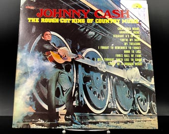 JOHNNY CASH RECORD - The Rough Cut King Of Country Music - Rare Vintage Original Vinyl Record - Collectible Lp -  !