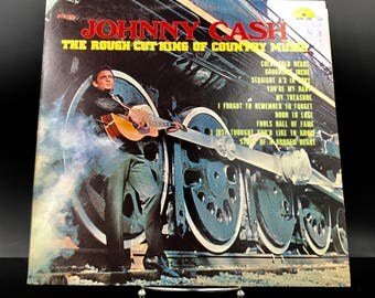 JOHNNY CASH VINYL Record - The Rough Cut King Of Country Music - Rare Vintage Original Vinyl Record - Collectible Lp - Great Gift!