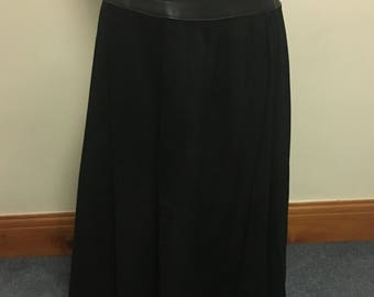 Full length leather skirt size 12