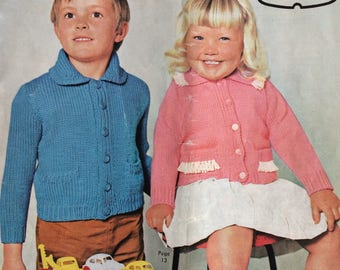 Vintage 1960's Patons knitting pattern booklet 663 - designs for toddlers and children