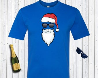 Cool Santa Men's Disney Shirt.Gift for Dad. Christmas Shirt. Santa Shirt