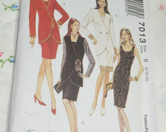 McCalls 7013 Misses Lined Jacket and  Unlined Dress Sewing Pattern - UNCUT - Size 8 10 12