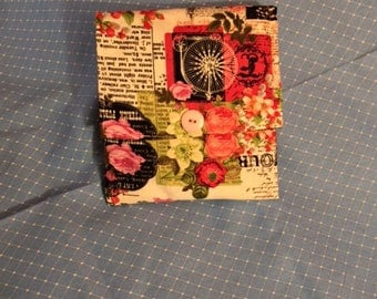 Bags Clutch  Small  Red  Accessories  Purse  Flowers  Paris  France