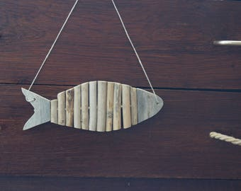 Driftwood fish decoration