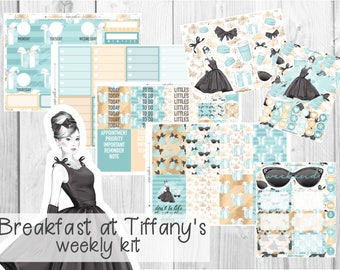 PREMIUM WEEKLY KIT // Breakfast at Tiffany's for Erin Condren Life Planner™ and Classic Happy Planner