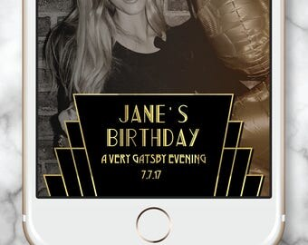 Art Deco filter * Elegant Snap Chat Gold Snapchat filter Gatsby Geofilter Snapchat Filter 30th Birthday Snapchat Geofilter Birthday Gold