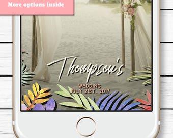 Hawaii Wedding Snapchat Filter, Wedding Snap chat Filter, Tropical Wedding Geofilter, Birthday Luau Decorations, Tropical Wedding Gift