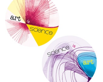 Art and science stickers - stocking stuffer