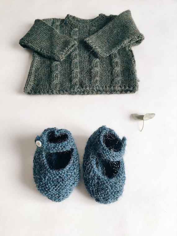 Wool knit - workshop me baby booties
