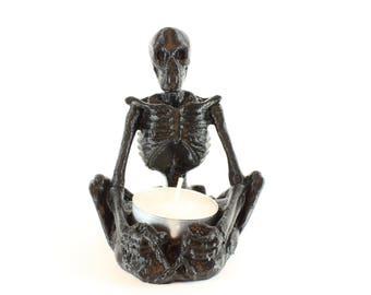 3D Printed Skeleton Candle Holder - Tea Light Holder - Skeleton Tea Light Holder - Halloween Candle Holder - Skeleton - Bones